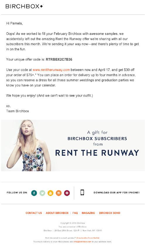 birchbox e-mail marketing