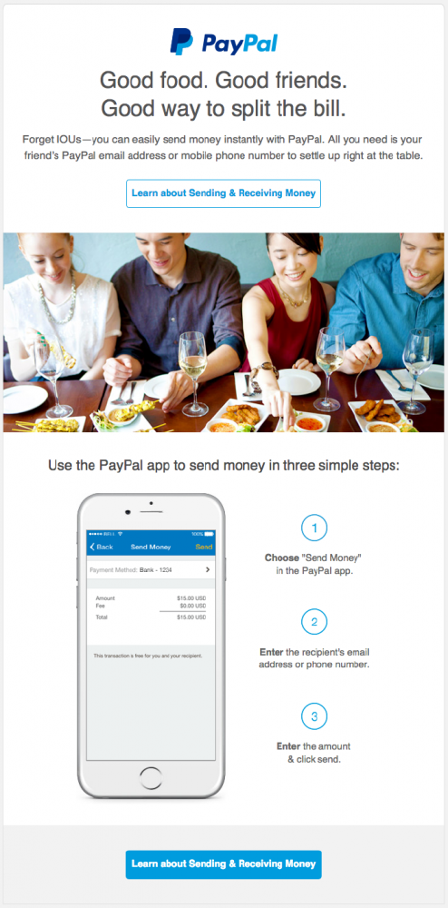 paypal email marketing